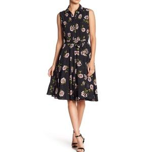 NWT Nanette Lepore Floral Button Pleated Dress New